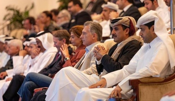 HH The Amir Attends Part of Qatar Total Women's Tennis Open 2020