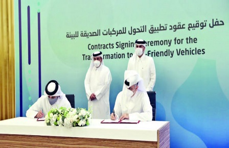 Contracts Worth About QR6 Billion for Implementing Transformation to Environment-Friendly Vehicles Signed